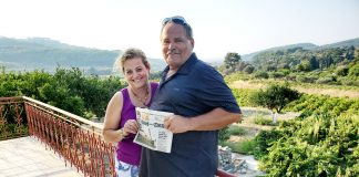 Mike Smyczek and Kalliopi Tsakoumagos took us to Samos Island in Greece. They visited a grape vineyard during harvest.