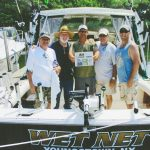 The four J's took us to fish for king salmon in Lake Ontario. They chartered with Captain Mat Yablonsky and had a great day with some great catches. From left: Jeff Innocenti, Joe Krigar, Mat Yablonsky, John Hrelec and Jason Snyder.