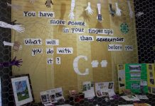 A 4-H booth at the Carroll County Fair about internet access.