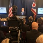 Gov. Mike DeWine reveals details about the H2Ohio initiative in a speech.