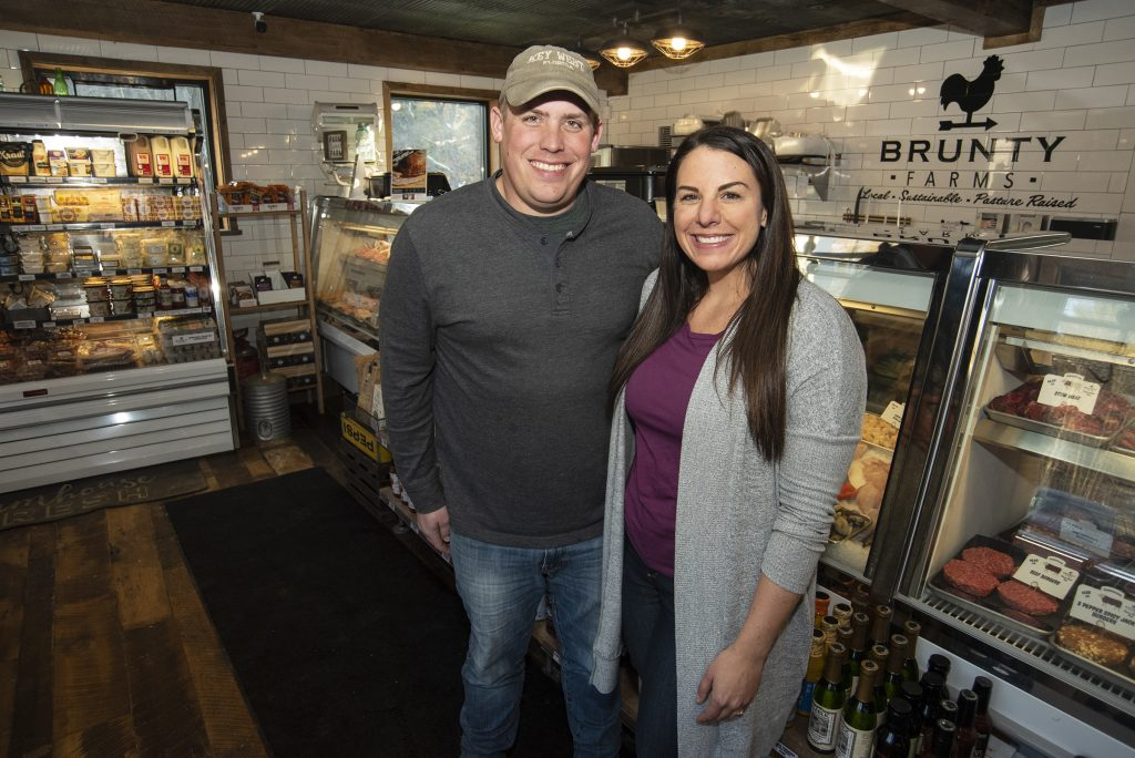 Jeff and Melanie Brunty, owners of The Farmer's Rail.