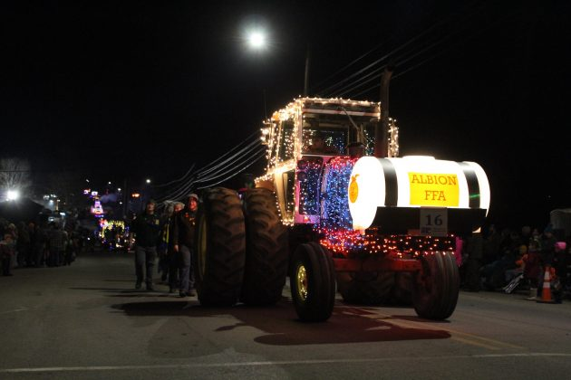 lighted tractor parade ffa