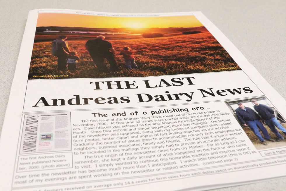 andreas farms newsletter