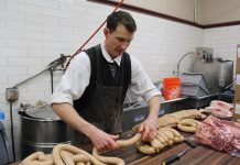 guy making sausage