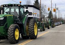 Bill Cameron's tractor funeral procession