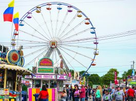 The midway at the Canfield Fair.