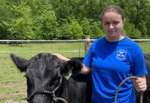 Maggie Byers and her steer, Levi. (Submitted photo)