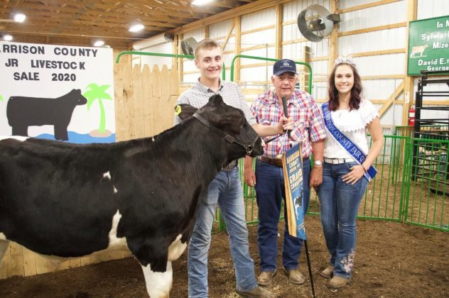 The Harrison County Fair grand champion dairy beef feeder.