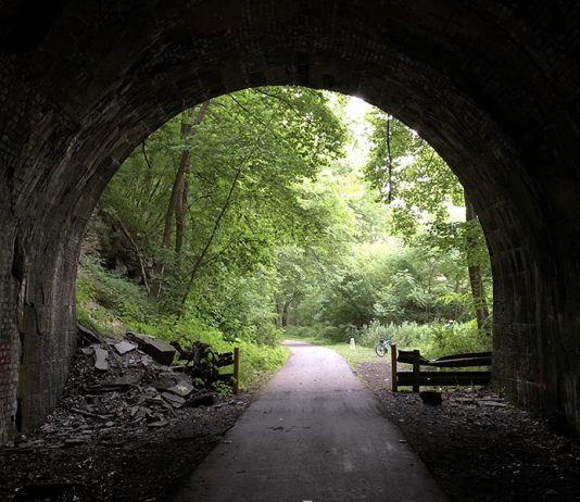 tunnel on Allegheny River Trail