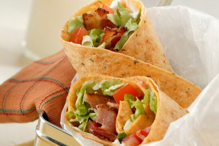 Bacon Lettuce and Tomato Wrap