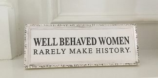 women in history sign