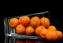 oranges in a glass
