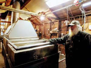 evaporator at Misty Maples Sugar House