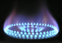 natural gas flame burner