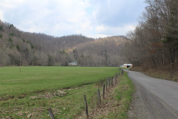 A rural road in West Virginia.