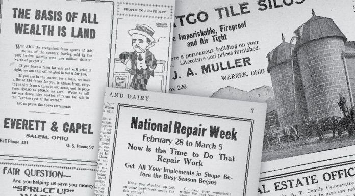 a collage of old newspapers.